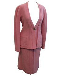 Chanel - 1999 Vintage Pink/lavender Pleated Skirt Suit - 38 - Lyst