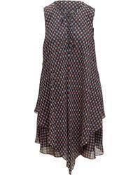 10 Crosby Derek Lam - Derek Lam 10 Crosby Navy & Multicolor Silk Sleeveless Dress - Lyst