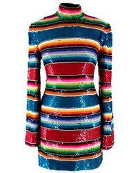 Ashish Multi-colour Sequin Mini Dress - Worn On By Alesha Dixon - Size S - Black
