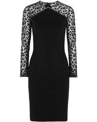 Stella McCartney Devor-paneled Stretch-jersey Dress - Black