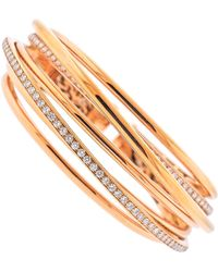 De Grisogono Allegra Rose Gold Diamond Bangle Bracelet - Red