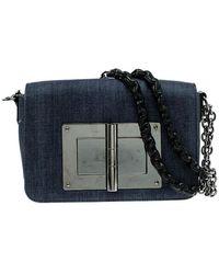 Tom Ford Denim Natalia Crossbody Bag - Blue