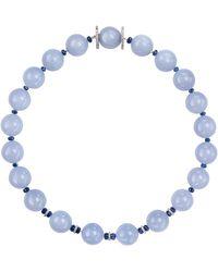 Sabbadini Chalcedony Beaded Necklace - Blue
