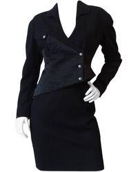 Thierry Mugler 1980s Asymmetrical Suit Set - Black