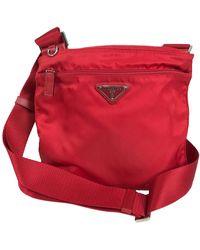 Prada Small Nylon Cross Body Handbag In - Red
