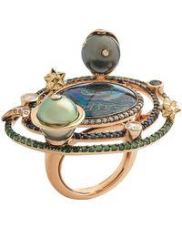 Bibi Van Der Velden Galaxy Opal Cocktail Ring - Metallic