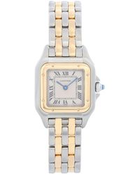 Cartier Panther Ladies 2-tone 2-row Steel & Gold Watch W25029b6 - Metallic