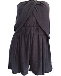 Elizabeth and James New Elizabeth And James Charcoal Draped Romper Playsuit / Onesie - Gray