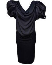 Viktor & Rolf Big Puff Sleeve Dress - Black