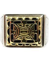 Konstantino Sterling Silver And 18 Karat Gold Men's Ring - Metallic