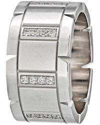 Cartier Gold Tank Francaise Diamond Wedding Band Ring - White