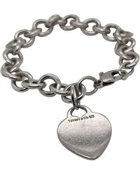 Tiffany & Co. - Sterling Silver Dog Chain Link Bracelet And Heart Pendant - Lyst