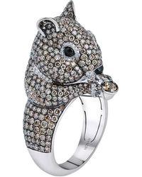 Monan 18 Karat Gold Another World 4.62 Carat Diamond Ring - Metallic