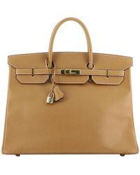 Hermès Hermes Birkin Handbag Natural Ardennes With Gold Hardware 40 - Multicolor