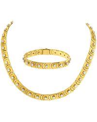 Chimento Diamond Necklace/choker With Bracelet In 18 Karat - Metallic