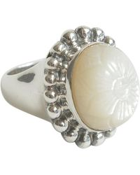 Stephen Dweck Sterling Silver And Mother Of Pearl Ring - Metallic