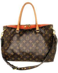 Louis Vuitton Monogram Canvas Pallas Mm Bag - Black