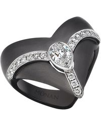 Monan 18 Karat Gold Kingdom 0.78 Carat Diamond Ring - Black