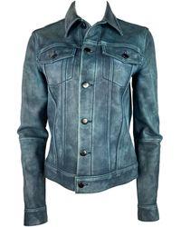10 Crosby Derek Lam Derek Lam 10 Crosby Leather Jacket, Size 4 - Blue