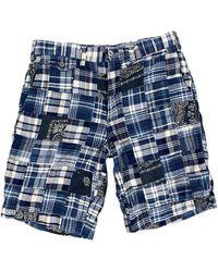 Polo Ralph Lauren Polo By Ralph Lauren Size 29 Patchwork Cotton Zip Fly Shorts - Blue