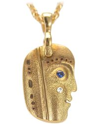 """Alex Sepkus """"till We Have Faces"""" Pendant Necklace With Sapphire In 18k Gold - Blue"""
