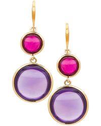 Goshwara Multi-color Disc Earrings - Multicolor