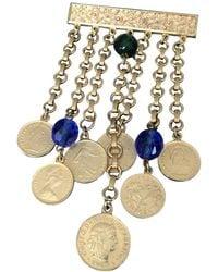 Ben-Amun Vintage Signed Ben-amun Dangling Link Coin Brooch Pin Estate Jewelry - Multicolor