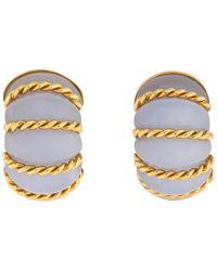 Seaman Schepps Gold And Chalcedony Shrimp Earrings - Metallic