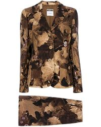 Moschino 1990s Floral Pattern Suit - Brown