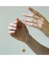 Goshwara Octagon Citrine And Diamond Pendant - Metallic