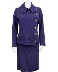 Jean Paul Gaultier 1990s Deep Skirt Suit - Purple