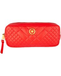 Versace Quilted Leather Icon Medusa Tribute Belt Bag - Red