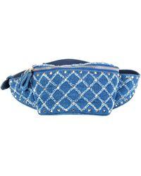 Valentino Garavani Indigo Denim Rockstud Belt Bag Hip Pack - Blue