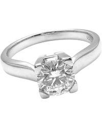 Harry Winston .71 Carat Vvs2/f Diamond Solitaire Platinum Engagement Ring - Metallic
