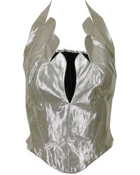 Thierry Mugler - Vintage Iconic Lame Halter Bustier Corset - Lyst