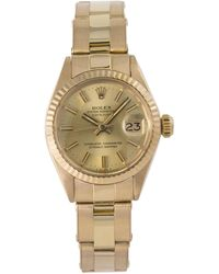 Rolex Datejust 6917 Gold Dial 18kyellow Gold Automatic Lady's Watch 26mm - Metallic