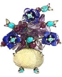 Iradj Moini Floral Brooch - Multicolor