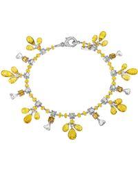 Sabbadini Jewelry Sapphire Charm Bracelet - Yellow