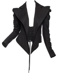 Yohji Yamamoto Sexy Corset Boned Blazer - Black
