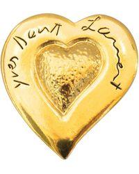 Saint Laurent Yves Saint Laurent 80's Heart Brooch - Metallic