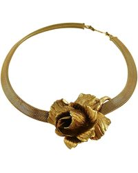 Dior Vintage Collar Necklace With Three Dimensional Textured Rose