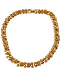 Napier Gilded & Brushed Gold Necklace - Brown