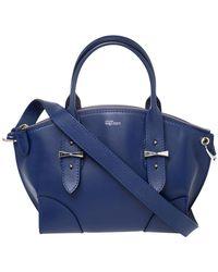 Alexander McQueen Smooth Leather Small Legend Satchel - Blue