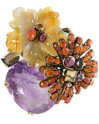 Iradj Moini Stunning Floral Brooch - Multicolor