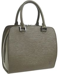 Louis Vuitton Epi Leather Zipper Top Evening Top Handle Satchel Bag - Green