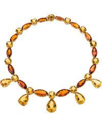 Sabbadini Jewelry 152 Carat Citrine Necklace - Metallic