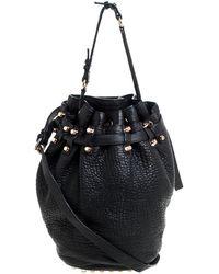 Alexander Wang Textured Leather Diego Bucket Bag - Black