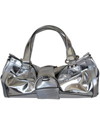 Sergio Rossi Leather Handbag - Metallic