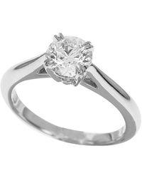 Harry Winston 0.70 Carat Diamond Platinum Engagement Solitaire Ring - Metallic