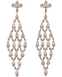 Meghna Jewels 7.56 Carat Diamond 18 Karat Gold Vendome Earrings - Metallic